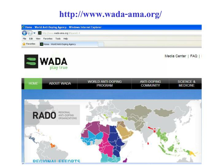 http://www.wada-ama.org/