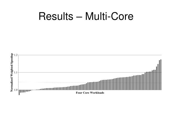 Results – Multi-Core