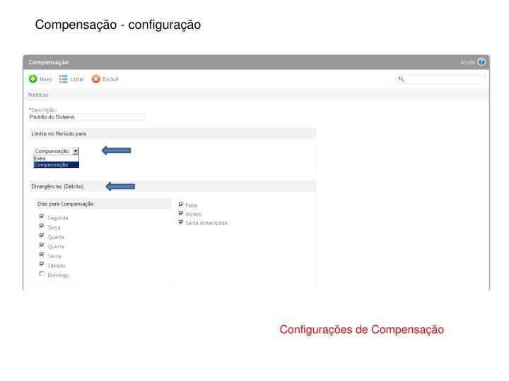 Compensação - configuração