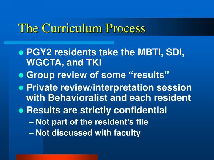 The Curriculum Process