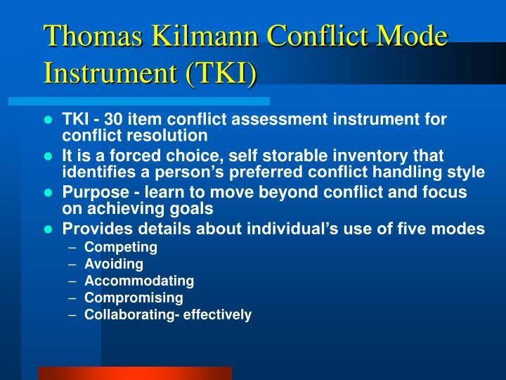 Thomas Kilmann Conflict Mode Instrument (TKI)
