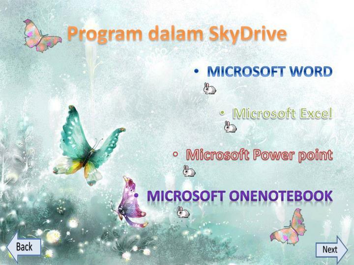 Program dalam SkyDrive