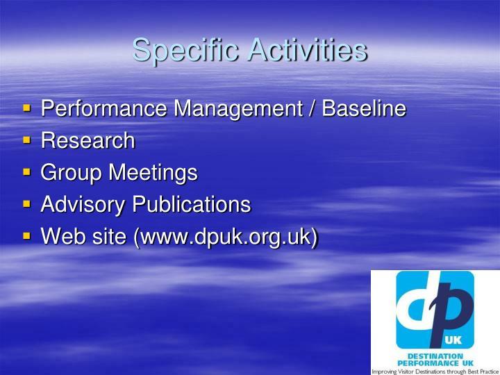 Specific Activities