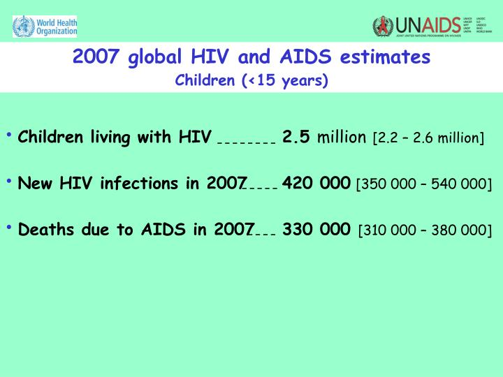 2007 global HIV and AIDS estimates