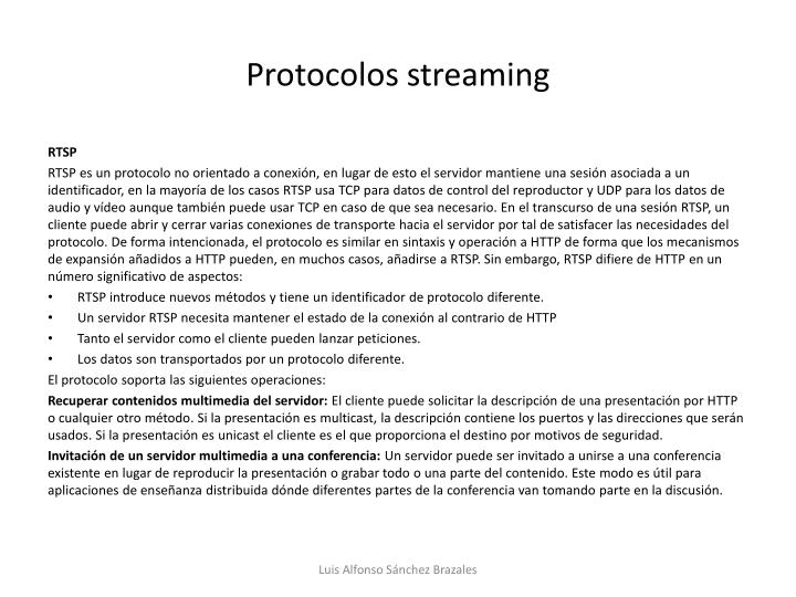 Protocolos streaming