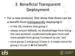 3 beneficial transparent deployment
