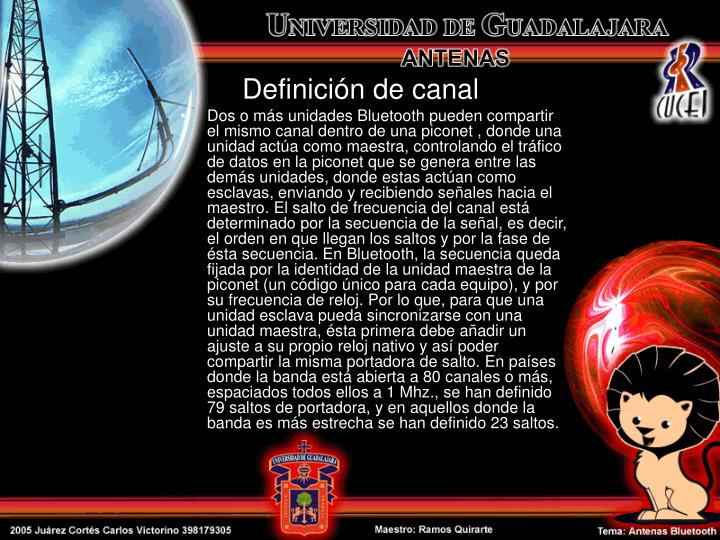 Definición de canal