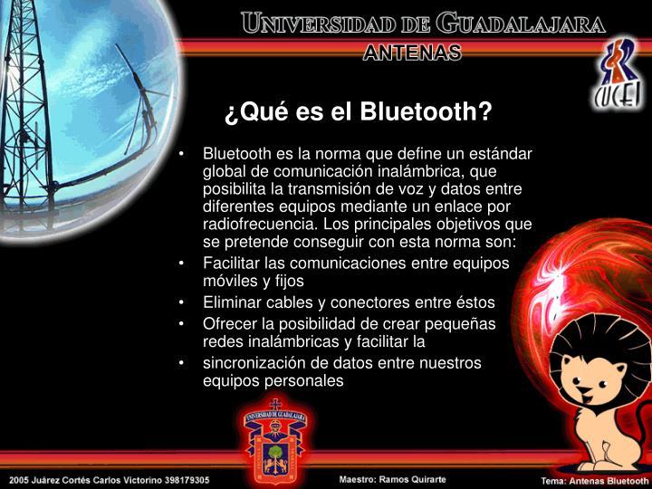 ¿Qué es el Bluetooth?