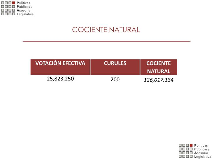 COCIENTE NATURAL