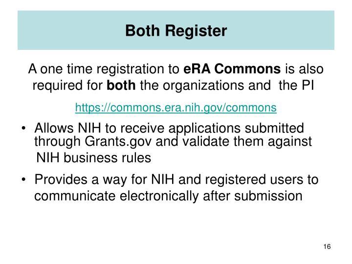 Both Register