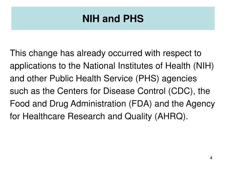 NIH and PHS