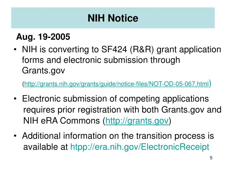 NIH Notice