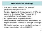 nih transition strategy
