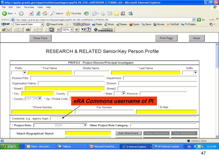 eRA Commons username of PI