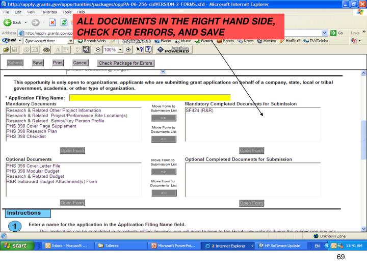 ALL DOCUMENTS IN THE RIGHT HAND SIDE,