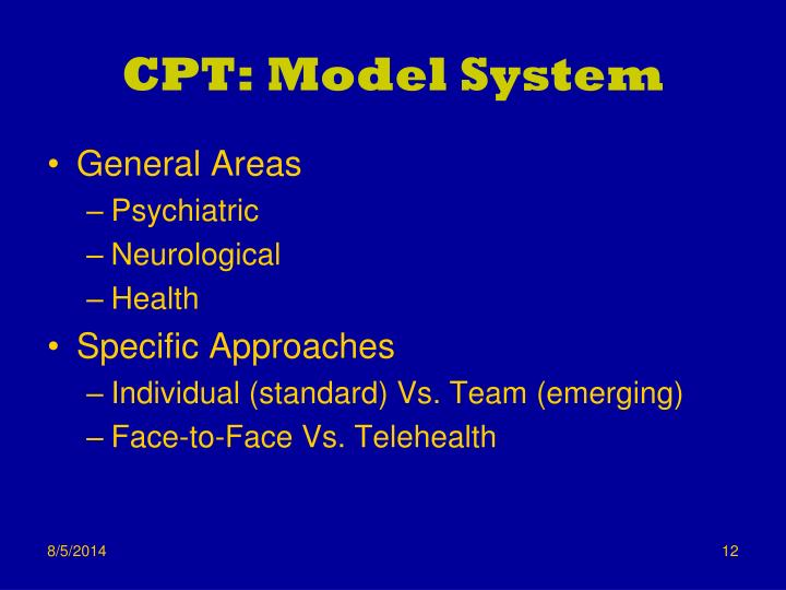 CPT: Model System