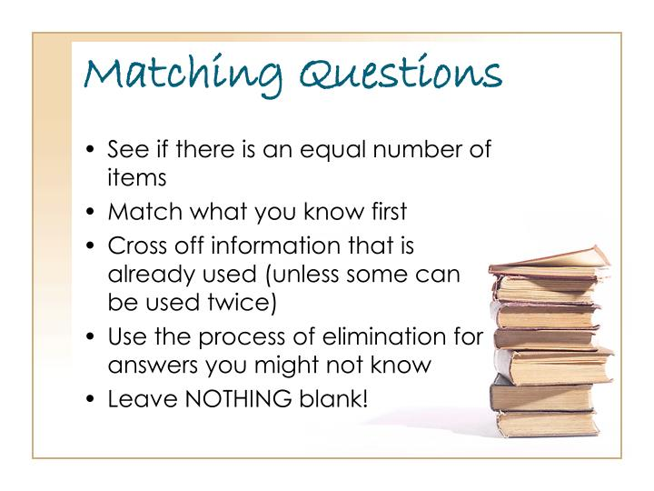 Matching Questions
