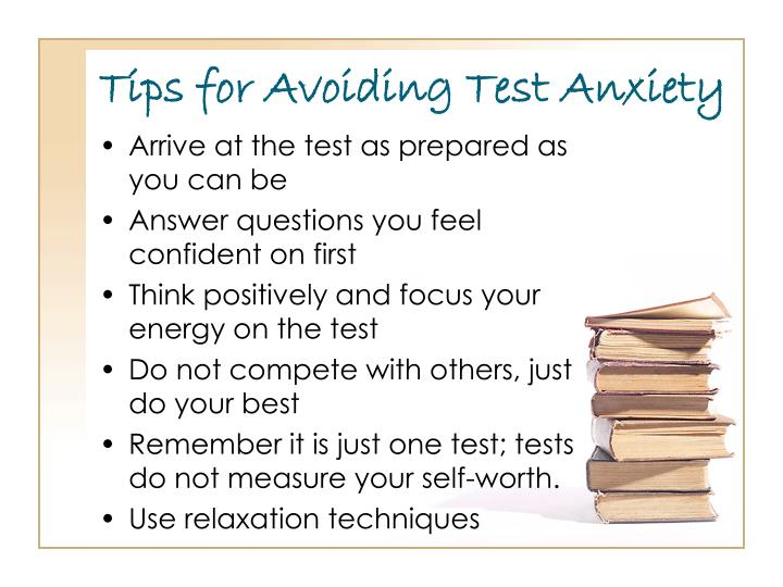 Tips for Avoiding Test Anxiety