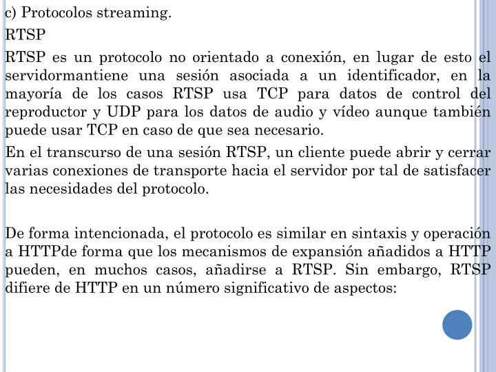 c) Protocolos