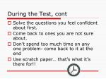 during the test cont