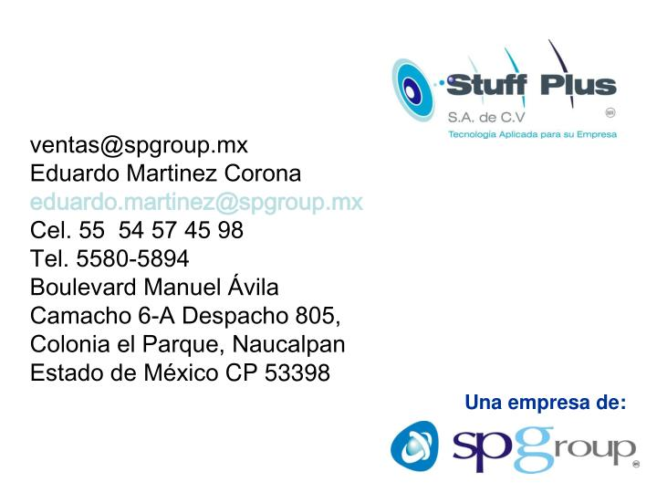 ventas@spgroup.mx