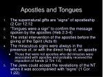 apostles and tongues