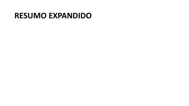 RESUMO EXPANDIDO