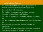 assessment factors