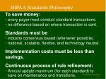 hipaa standards philosophy