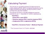 calculating payment