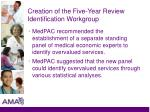 creation of the five year review identification workgroup1