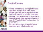 practice expense