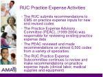ruc practice expense activities