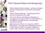 ruc subcommittees and workgroups