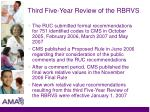 third five year review of the rbrvs