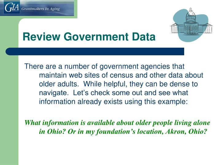 Review Government Data