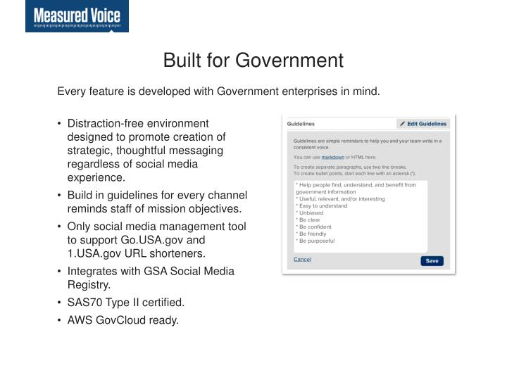 Built for Government