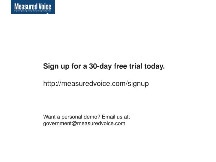 Sign up for a 30-day free trial today.