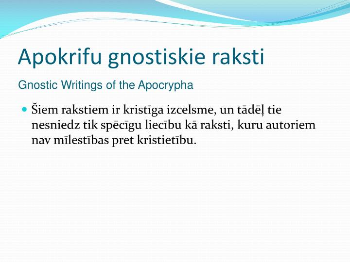 Apokrifu gnostiskie raksti
