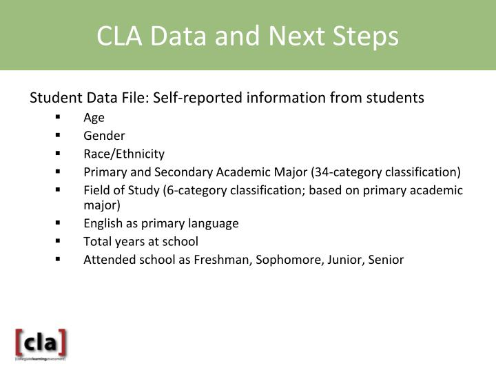 CLA Data and Next Steps