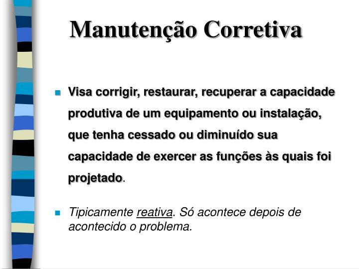 Manutenção Corretiva