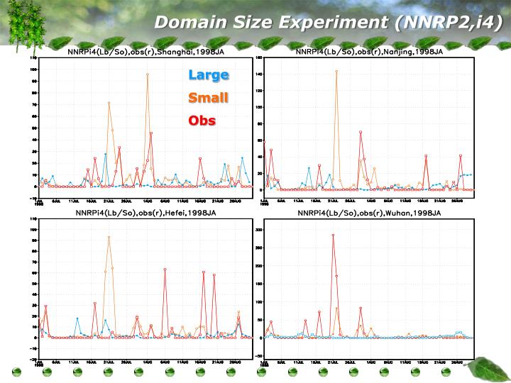 Domain Size Experiment (NNRP2,i4)
