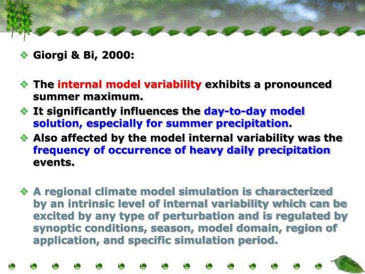 Giorgi & Bi, 2000: