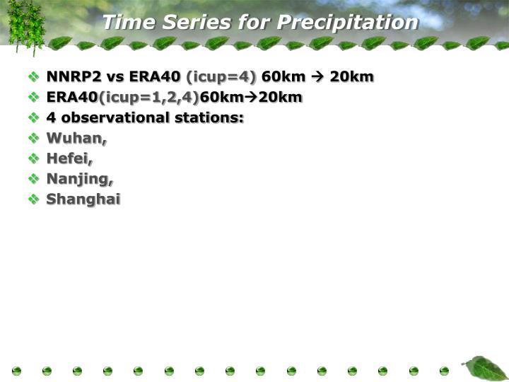 Time Series for Precipitation