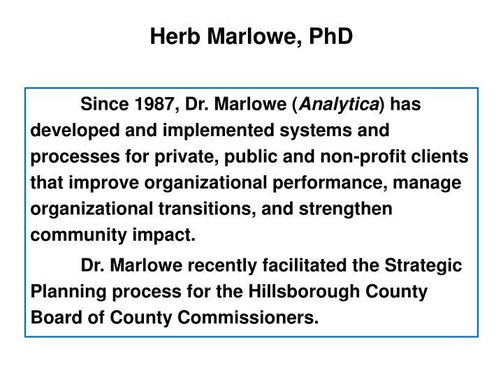 Herb Marlowe, PhD