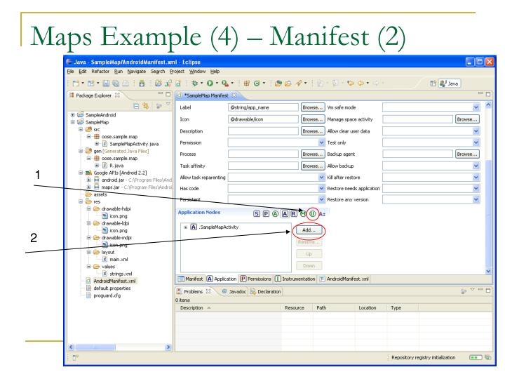 Maps Example (4) – Manifest (2)