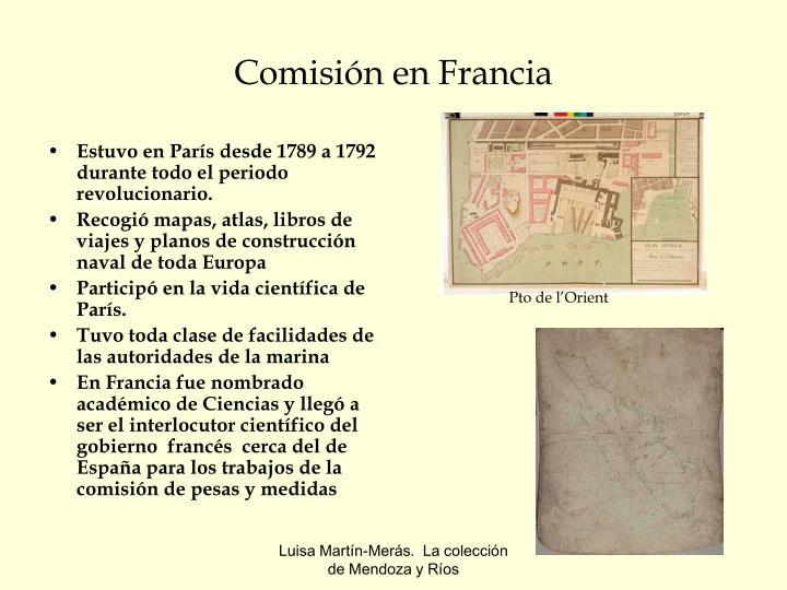 Comisión en Francia