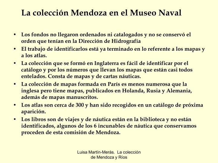 La colección Mendoza en el Museo Naval