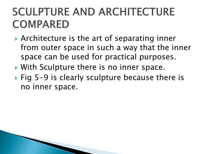 SCULPTURE AND ARCHITECTURE COMPARED