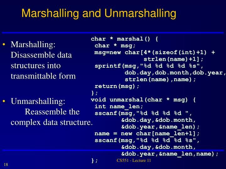 Marshalling and Unmarshalling